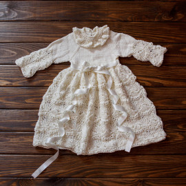 Vintage Infant Robe Antique Lace Handmade