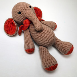 Elephant Crocheted Stuffed Zoo Animals