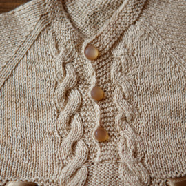Hand Knitted Baby Boy Christening Gown, Blessing Outfit, Size 3