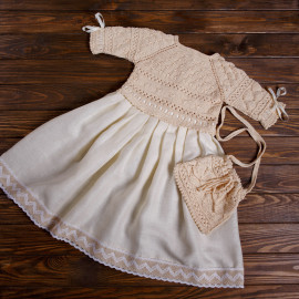 Sweet and Simple Knitted Linen Vintage Dress 4T Crossbody Kids Bag