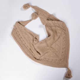Shawl - scarf, exclusive accessory for girls handknitted 6T.
