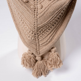 Scarf for girls in Provence style, hand-knitted 4T.