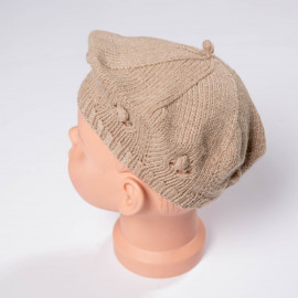 "Beret for girls handknitted ""French mood"" 5T"