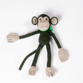 Crazy Monkey, children's soft toy, hand-knitted toy