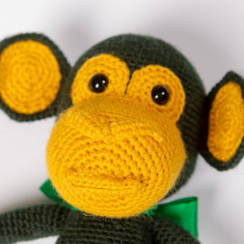 Monkey Go Funny hand-knitted soft toy