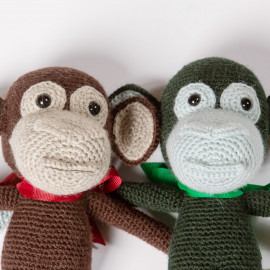 Funny Monkey hand-knitted soft toy