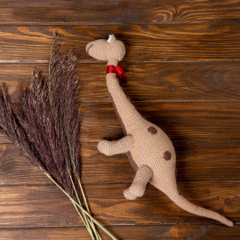 Friendly Dino hand knitted soft toy for kids