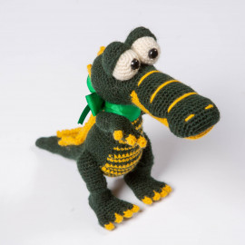 Gift Crocodile for your kid Forest Green crochet