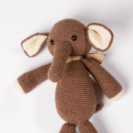 Gift Elephant crocheted Soft toy for baby