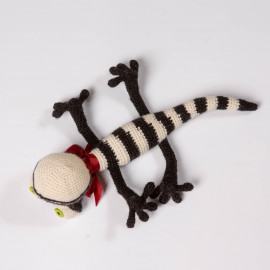Gift Lizard Striped funny reptile for kids