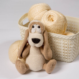 Dog is the best gift for a kid. Crochet soft toy