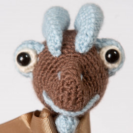 Gift dinosaur  Crocheted soft toy  Explore the world by playing