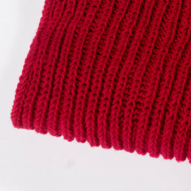 Red soft wool scarf for women
