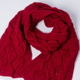 Woolen scarf Red stylish accessory