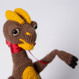 Dilophosaurus from Jurassic Park Soft Crochet Toy Baby Safety