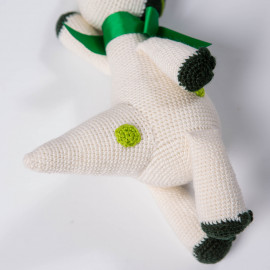 Dino for baby Crochet soft toy White Dinosaur
