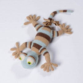 Lizard for the kid. Best gift. Crochet lizard