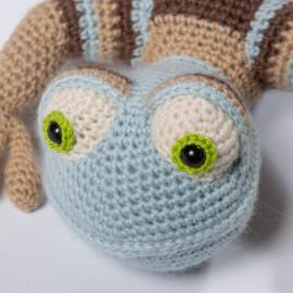 Lizard for the kid. Best gift. Crochet lizard