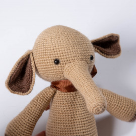 Beige elephant Knitted soft toy Elephant