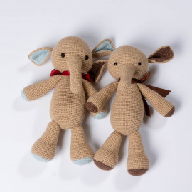 Beige elephant Knitted soft toy Elephant