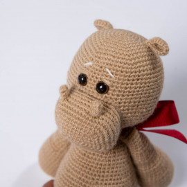 Toy Hippo The best gift for the kid Crocheted Hippo