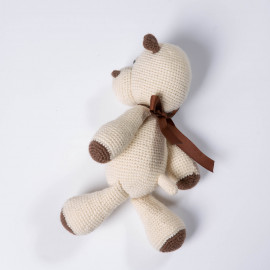 White Hippo. Hippo toy for kid Crocheted Hippo