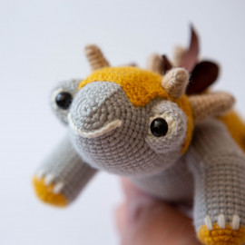 Dinosaur for kids. Crochet Dinosaur. Dinosaur stuffed toy