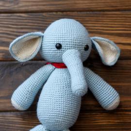 Toy Elephant. Crochet elephant for children. Soft toy Elephant