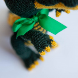 Green Crocodile toy for kid. Crocodile crochet