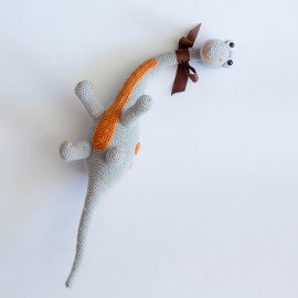 Dinosaur for a child. Dinosaur crochet. Diplodocus soft toy