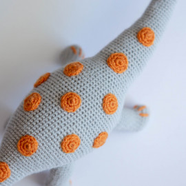 Dinosaur for a child. Dinosaur crochet. Diplodocus soft toy