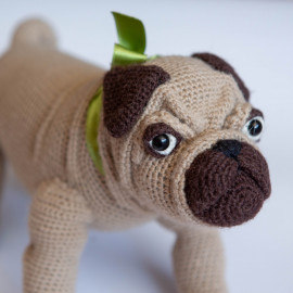 Toy Pug. Toy dog. The best gift for a child
