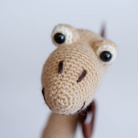 Dino's toy. Soft Dinosaur for baby. Diplodocus soft toy