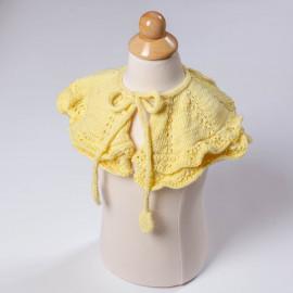 Shoulder cover for girls. Openwork knit cape