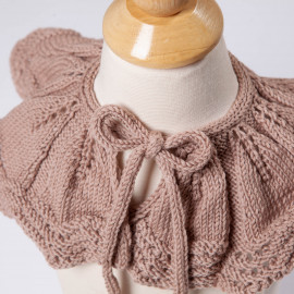 Hand-knitted cotton cape for girls. Unique handicrafts