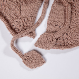 Hand-knitted cotton cape. Brown cape for a girl