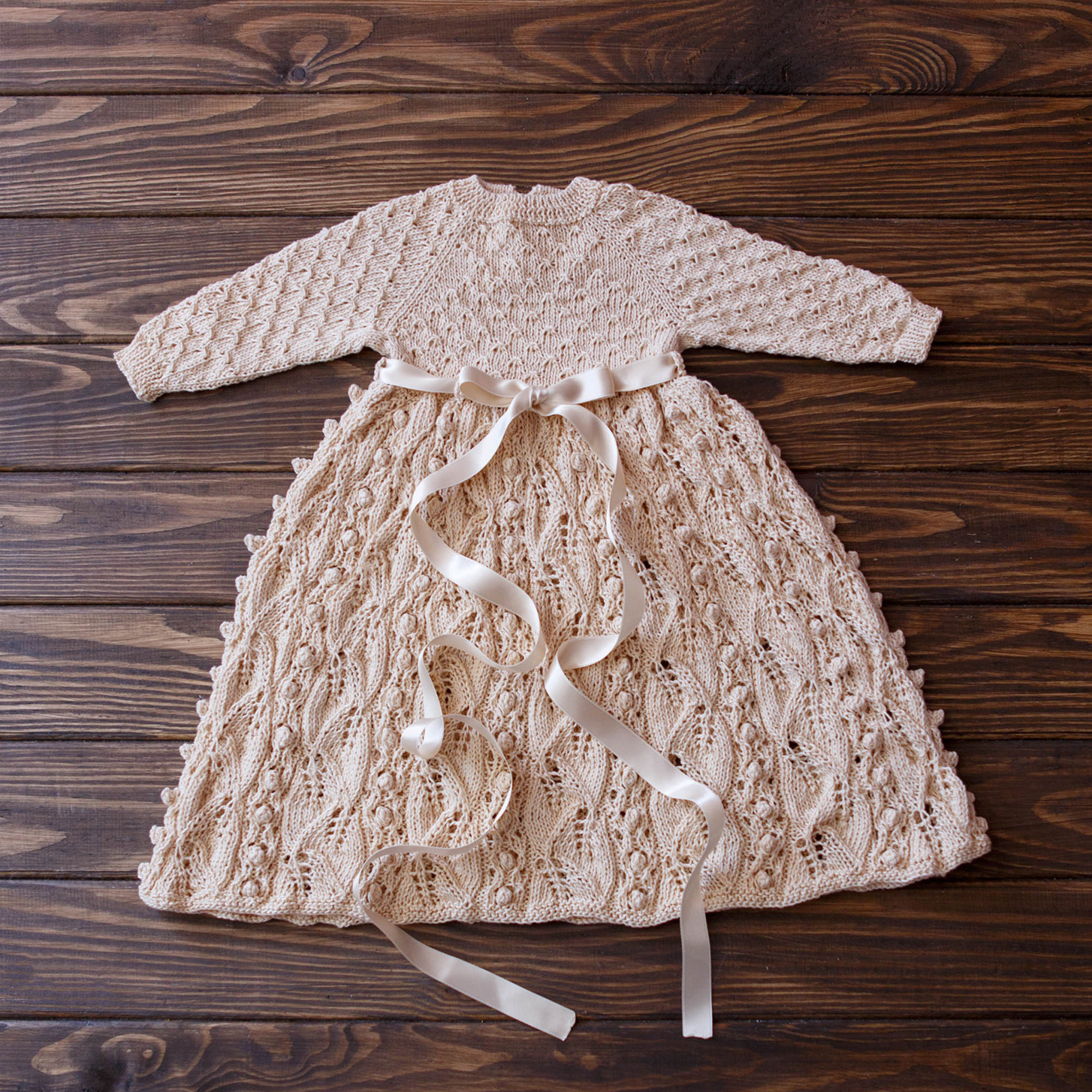 Vintage Knit Baby Girl Dress Size 3-6 Months 57-67 cm