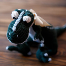 Green Rex Handmade Gift Stuffed Toy