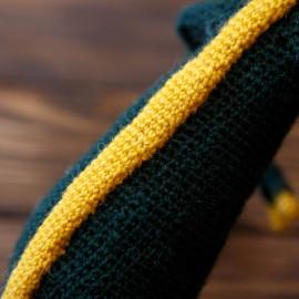 Lemon Lime Dinosaur Prehistoric Era Hand Crocheted Toy