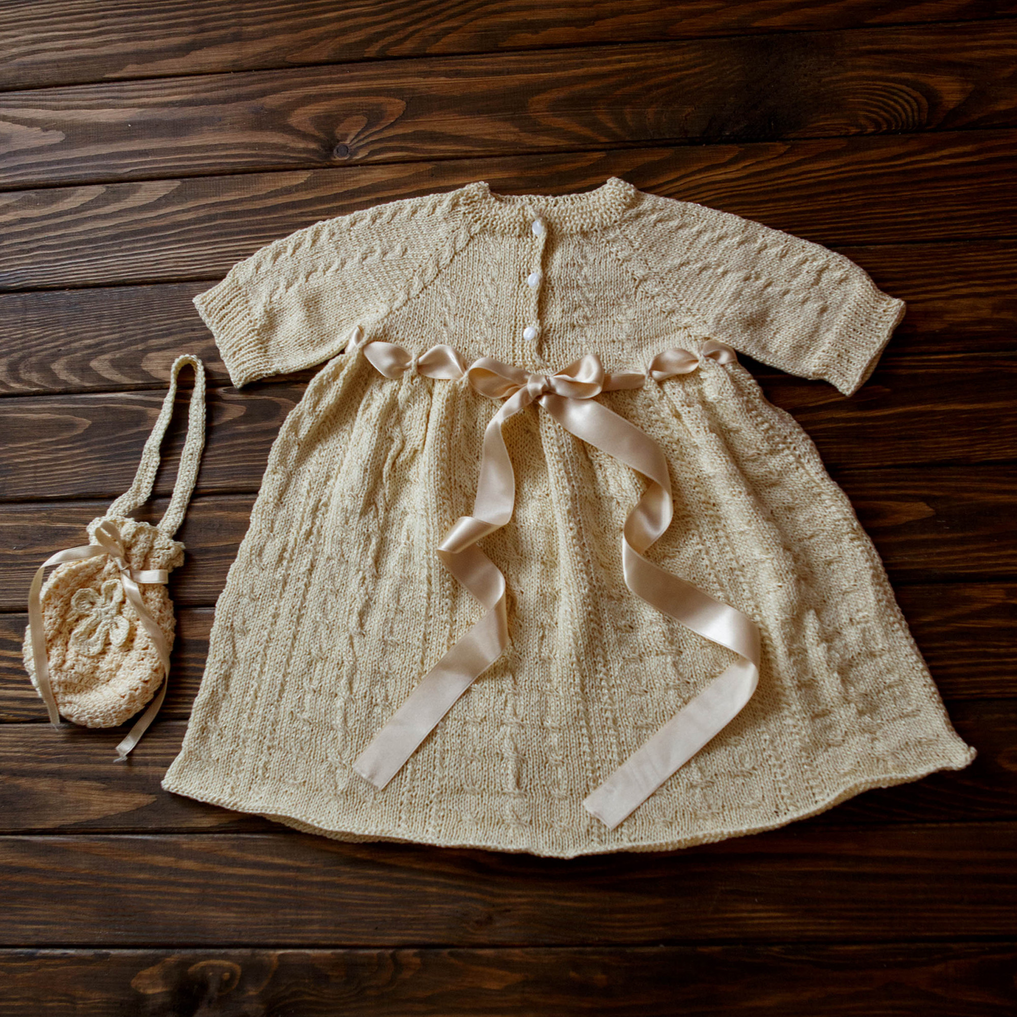 Special Occasion Dress Vintage Knit Robe