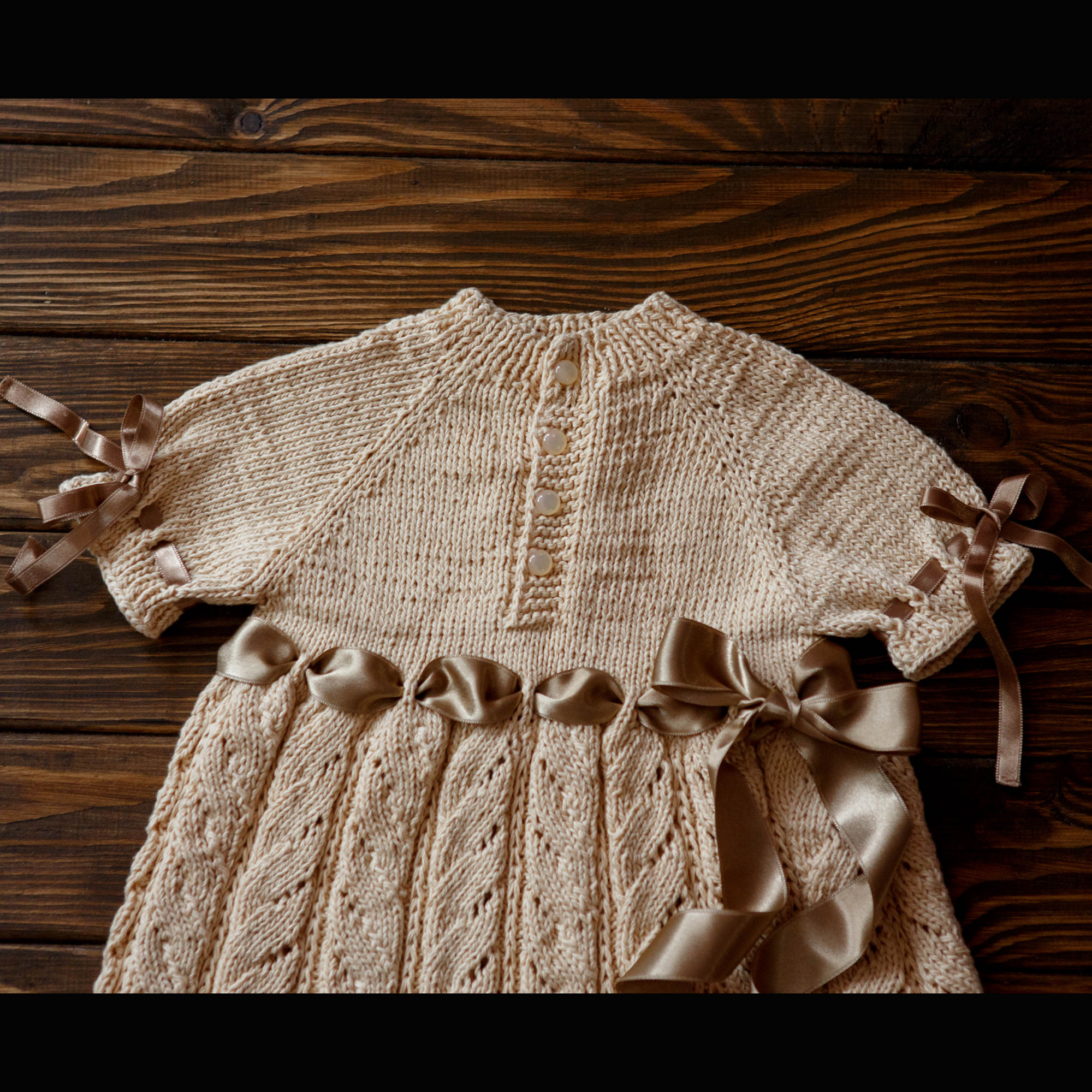 Handmade Entirely Knitted Beautiful Baby Boy Dress Seamless