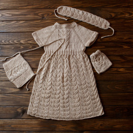 Casual Vintage Girl's Dress Matching Set 18-24 months