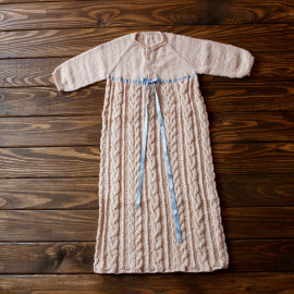 Babies Baptism Box Baby Knit Gown Cable Boy Dress